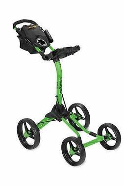 New Bag Boy Golf- Quad XL Push Cart Limited Edition Lime/Bla