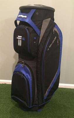 New Bag Boy Golf- Revolver FX Cart Bag Black/Royal/Silver