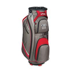 New Bag Boy Golf- Revolver FX Cart Bag Charcoal/Red/Silver