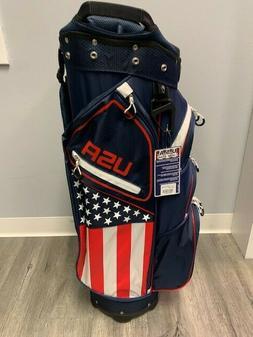 NEW! Hot-Z Golf 2020 USA Flag Cart Bag