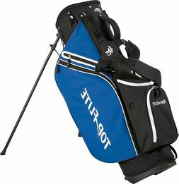New Top Flite Lightweight Golf Stand Bag Dual Carry Strap Bl
