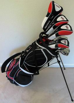 NEW Mens Complete RH Golf Club Set Driver Wood Hybrid Irons