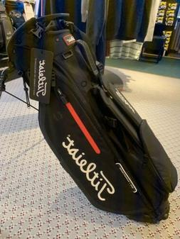 New Titleist Players 4 Stand Bag- Black Black Red 4-Way Divi