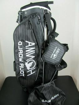 New Honma Tour World Golf Stand Bag With Extra Cover Black P
