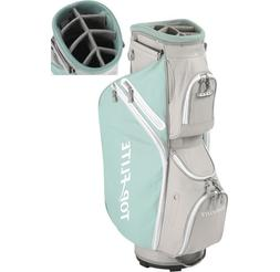NEW TURQUOISE BLUE GRAY WOMENS 2018 TOP FLITE CART GOLF BAG