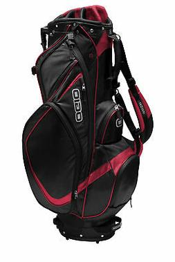 New Ogio Vision Mens Stand Golf Bag 425041 - Black/Red