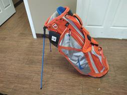 New with Tags Nike Vapor X Golf Stand Bag Orange/Gray/Blue w