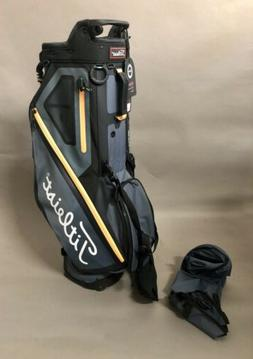 NEW TITLEIST WOMEN PLAYERS 4 STAND BAG CHARCOAL/SLEET/ORANGE