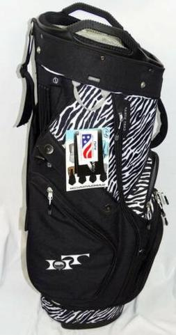 New Women's Sun Mountain Black/White Zebra Print Diva Cart G