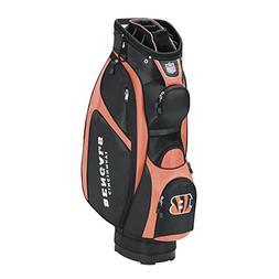 Wilson NFL Cincinnati Bengals Cart Golf Bag, Black/Orange