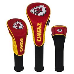 Team Effort NFL Kansas City Chiefs Set of Three Headcovers