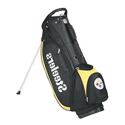 Wilson NFL Pittsburgh Steelers Carry Golf Bag, Black/Gold, O