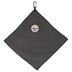 """Team Effort NFL Pittsburgh Steelers 15""""x15"""" Grey Microfiber"""