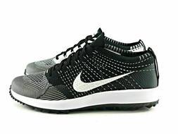 Nike Flyknit Racer G Men's Golf Shoes 909756 001 Black White