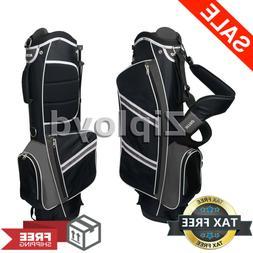 Nitro Lightweight Stand Golf Stand Bag, Black/Silver Dual Pr