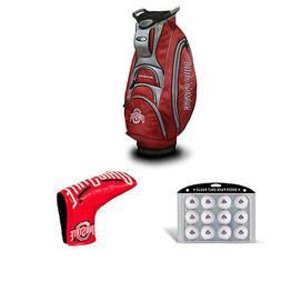 Team Golf Ohio State Buckeyes Golf Club Bag + Golf Balls, 12
