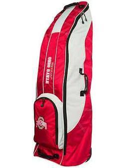 Ohio State Buckeyes Team Golf Red Golf Clubs Wheeled Luggage