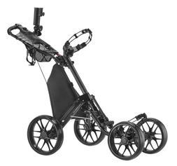 CaddyTek One-Click Folding 4 Wheel Version 3 Golf Push Cart,