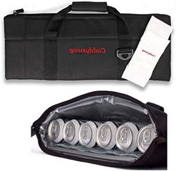 Par 6 Pack Golf Bag Cooler With Flexible Reusable Freezer Ge