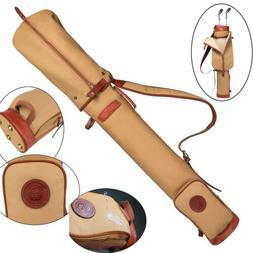 Tourbon Pencil Golf Club Bags Ball Carry Case Travel Foldabl