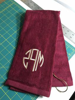 Personalized Golf Towel / Monogrammed / Tri Fold / Velour Te