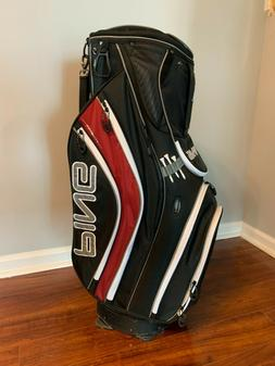 Ping Pioneer Cart Bag ~ Black, Garnet, and Silver ~ NICE SHA