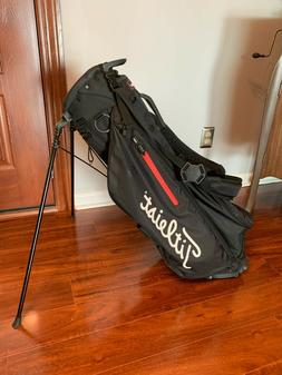 Titleist Players 4 Stand Golf Bag ~ Black and Red Trim