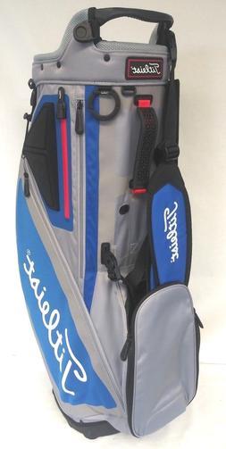 Titleist Players 5 Stand Golf Bag NEW Sleet Blue Red 4 Way T