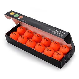 """Practice Foam Golf Balls 1.68"""" Indoor/Outdoor Limited Flight"""