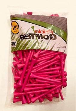 "Pride Golf Tee Birch 2 3/4"" Tees 3x100 Ct Bags Pink"