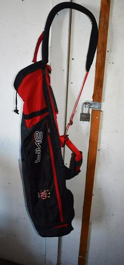 PRISTINE Ping Moonlite Sunday Carry GOLF Bag - RED & BLACK -