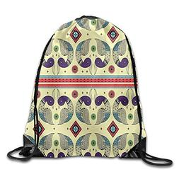 EAYSOY LOOK Psychedelic Drawstring Outdoor Decor Backpack In