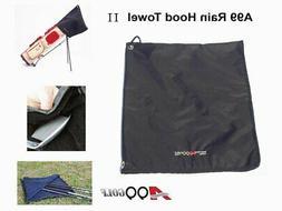 Rain Hood Towel Waterproof Golf Bag Cover Black New