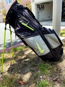 RARE Nike Air Hybrid Vapor Golf bag Black Volt With Rain Cov