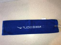 RARE! New Nike Golf Blue Crush Hanging Towel Old School Nike