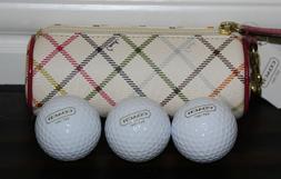RARE! ❤️ Coach Peyton Tattersall Golf Balls Case Holder