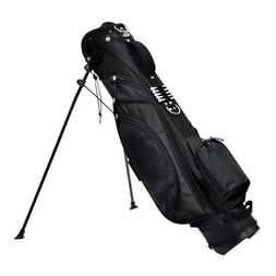 "RJ Sports Typhoon Mini Stand Bag, 6"", Black/Black"