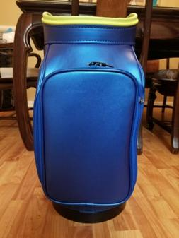 rzn blue den caddy golf bag rare