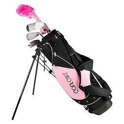 Golf Girl Junior Club Set for Kids Ages 8-12 RH w/Pink Stand