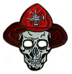 Be The Ball 4U Skull Golf Ball Marker with Flame Hat Clip