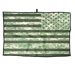XIKEWL Soft Microfiber Golf Towel Camouflage USA Flag Breath