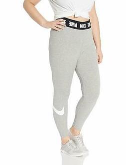 NIKE Sportswear Women's Plus Club Leggings, Dark Grey Heathe