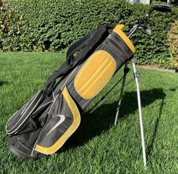 Nike SQ Machspeed Junior Golf Bag Black and Yellow W/ Two Go