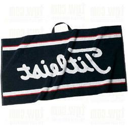"Titleist Staff Golf Bag Towel Black White Red 20""x40"" NEW Go"