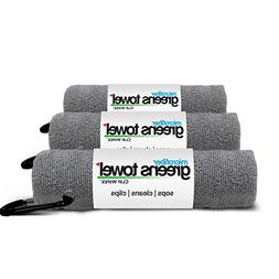 3 Pack of Sterling Silver Microfiber Golf Towels
