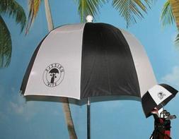 Lot of 2 Drizzle Stik Flex Black/White Golf Bag Umbrella FRE
