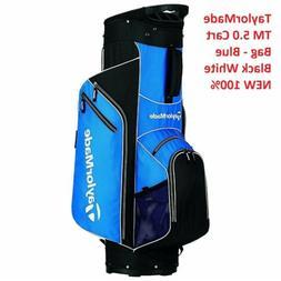 TaylorMade 5.0 Blue Black White Cart Golf Bag NEW 100%