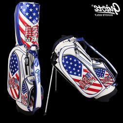 "Team USA Golf Stand Bag Pu Leather Carry Bag 8-ways 9.0""come"