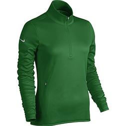 NIKE Women's Thermal Half-Zip Golf Top, Classic Green/Classi