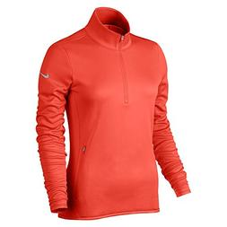 NIKE Women's Thermal Half-Zip Golf Top, Max Orange/Max Orang